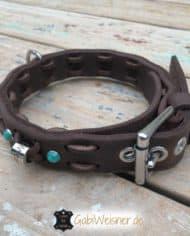 Halsband-und-Leine-Welpen-SET-für-große-Hunderassen-Hundehalsband-Leder-2