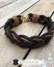 Hundehalsband-Leder-Mix-4-cm-breit-geflochten-1