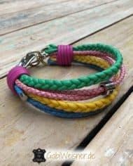 Hundehalsband-Leder-MIX-Pastellfarben