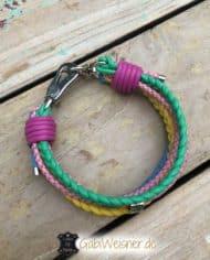 Hundehalsband-Leder-MIX-Pastellfarben-2