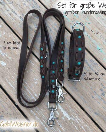 Halsband und Leine Welpen SET für große Hunderassen