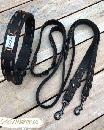 Halsband mit Namen und Leine