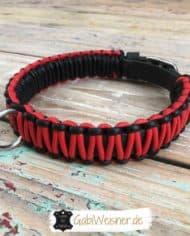 Hundehalsband-3-cm-breit-Leder-in-Schwarz-Rot-1