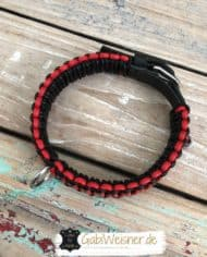 Hundehalsband-3-cm-breit-Leder-in-Schwarz-Rot-2