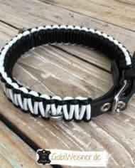 Hundehalsband-3-cm-breit-Leder-in-Schwarz-Weiß-1