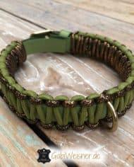 Hundehalsband-Leder-in-Grün-Gold-3-cm