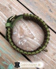 Hundehalsband-Leder-in-Grün-Gold-3-cm-2