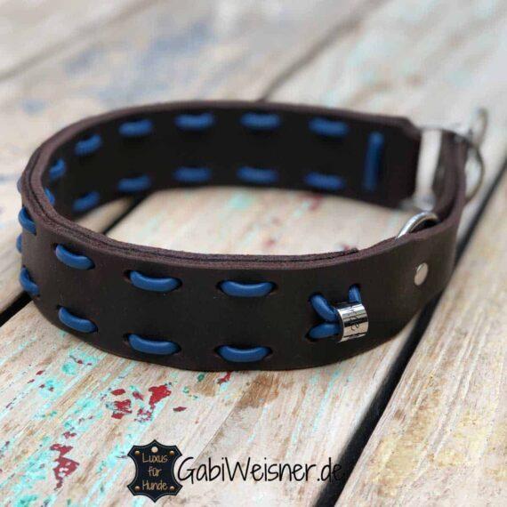 Hundehalsband-Zugstopp-braun-blau-1
