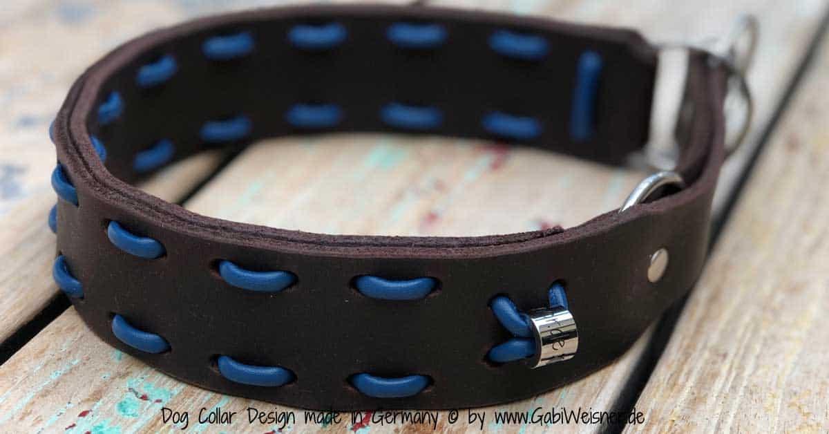 Hundehalsband-Zugstopp-braun-blau