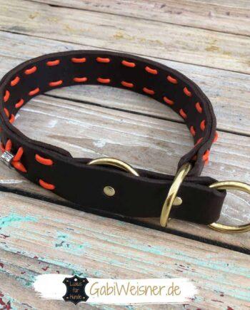 Zugstopp Hundehalsband Leder