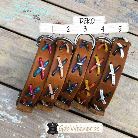 Hundehalsband aus Leder mit Kreuzen