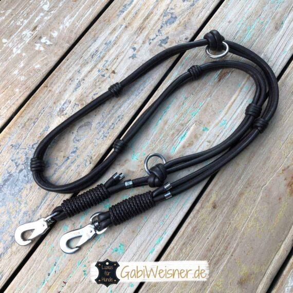 Exklusive HundeLeine Leder in Schwarz oder Braun