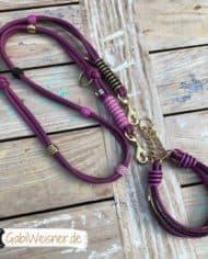 hundehalsband-hundeleine-leder-beere-rosa-pink-schwarz-gold-1