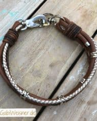 Hundehalsband-Leder-Mix-in-Braun-Perlmutt-2