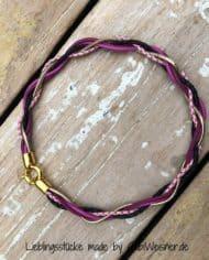 Damen-Collier-Leder-5-Farben-Gold-Federring