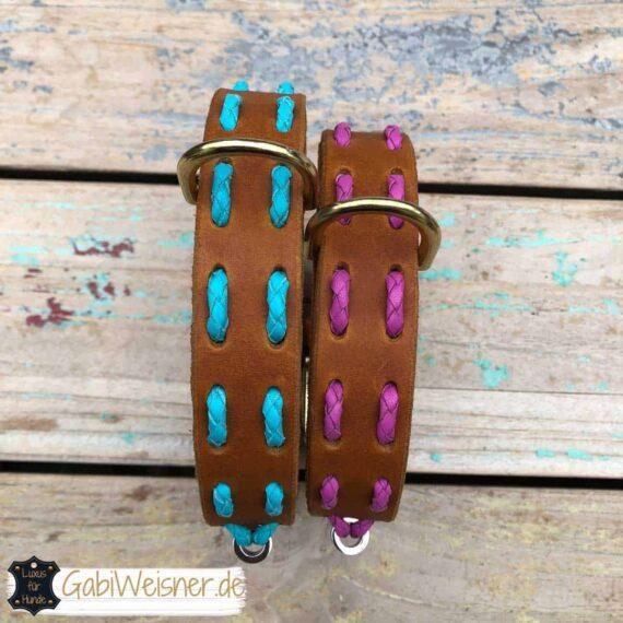 Hundehalsband Steppmuster