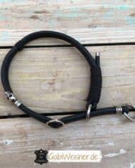 Zugstopp-Hundehalsband-Leder-rundgenäht-2-reihig