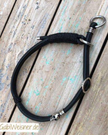 Zugstopp Hundehalsband Leder rundgenäht