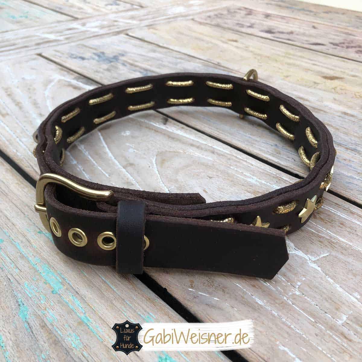 Hundehalsband für große Hunde Leder 3 cm breit