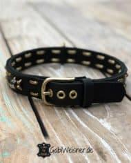 Hundehalsband-Leder-für-große-Hunde-3cm-breit-gold-2
