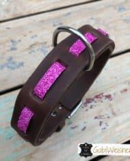 Hundehalsband-Leder-und-Stein_pink_1