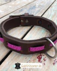 Hundehalsband-Leder-und-Stein_pink_2