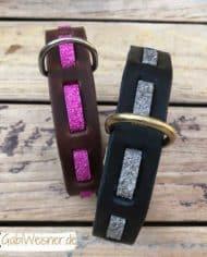 Hundehalsband-Leder-und-Stein_pink_grau_1