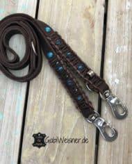 Indianer-Hundeleine-Leder-2-cm-breit-braun