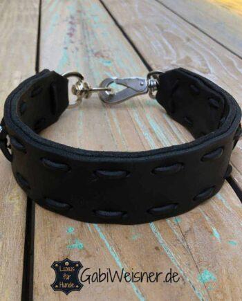 Hundehalsband Leder 4,5 cm EXTRA BREIT für große Hunde