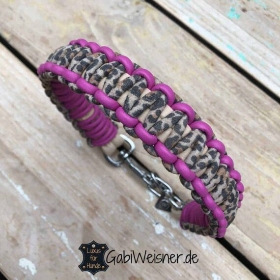 Hundehalsband Leopard Pink