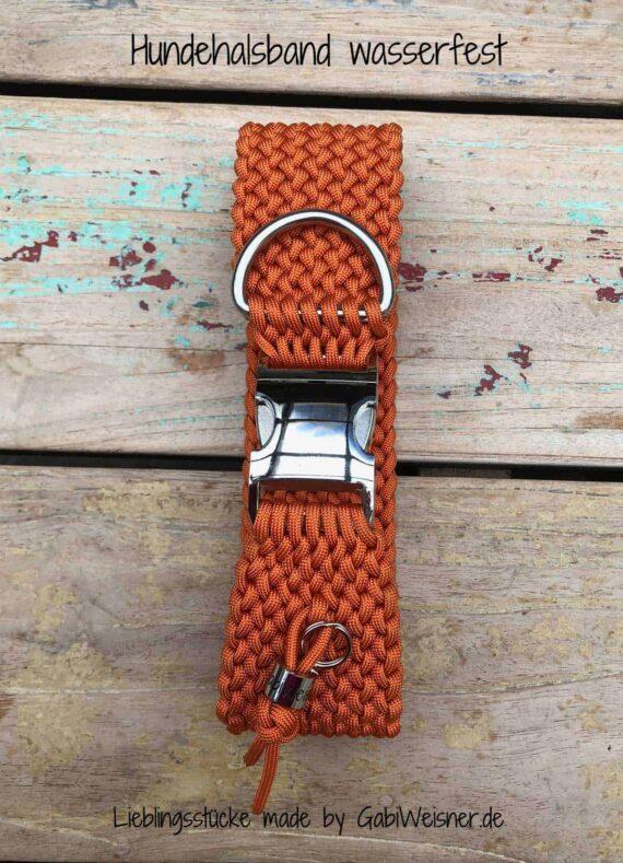 Hundehalsband wasserfest Paracord 4, 5 oder 6 cm breit
