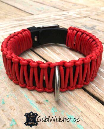 Hundehalsband verstellbar 4 cm breit Farbe nach Wunsch