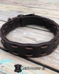 Hundehalsband-Volles-Leder-in-Braun-verstellbar_1