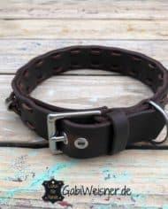 Hundehalsband-Volles-Leder-in-Braun-verstellbar_2