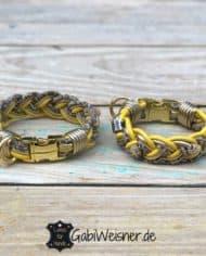 Mini-Hundehalsband-3-cm-breit-Leder-in-Gelb-Gold-Leoprint_1