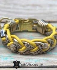 Mini-Hundehalsband-3-cm-breit-Leder-in-Gelb-Gold-Leoprint_2