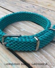 Paracord-Hundehalsband-3-cm-breit-geknotet-und-stufenlos-verstellbar