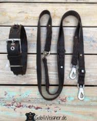 SET-Hundehalsband-und-Leine-Volles-Leder-in-Braun-beides-verstellbar_2