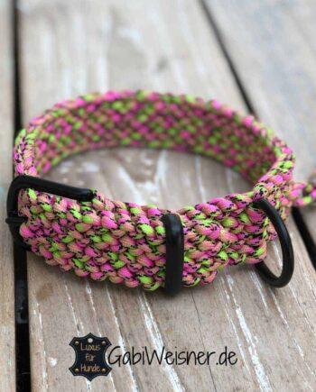 Hundehalsband Melone 3 cm breit stufenlos verstellbar
