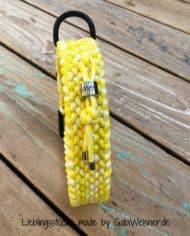 Paracord-Hundehalsband-3-cm-breit,-Gelb-Weiß-und-stufenlos-verstellbar_4