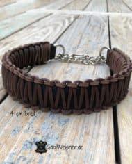 Zugstopp-Hundehalsband-Leder-4-cm-breit-braun