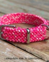 Hundehalsband-in-Pink-3-cm-breit-und-stufenlos-verstellbar-2