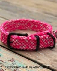 Hundehalsband-in-Pink-3-cm-breit-und-stufenlos-verstellbar-3
