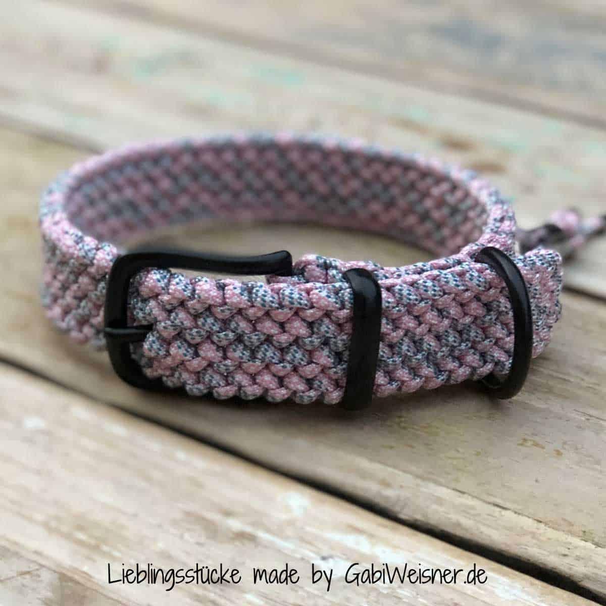 Hundehalsband 3 cm breit stufenlos verstellbar