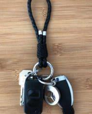 Auto-Schlüsselanhänger-leder-schwarz
