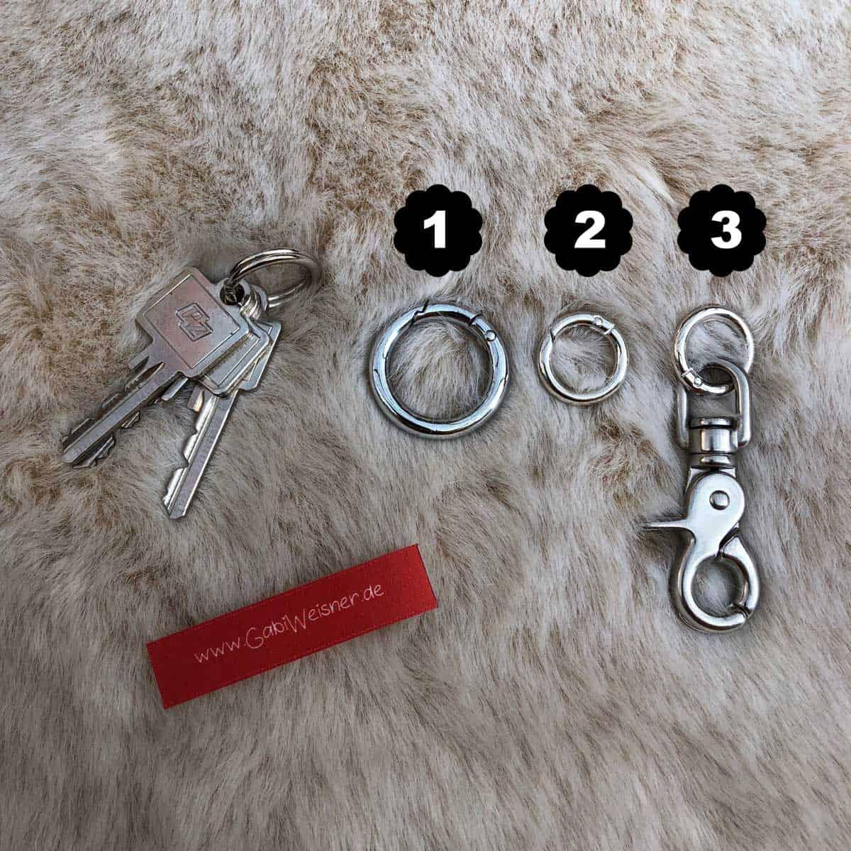 Schlüsselband mit Ohr Tunnel