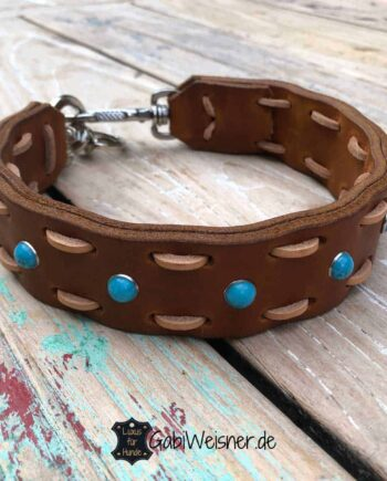 Hundehalsband Leder 45 mm breit, einmal weiter verstellbar.