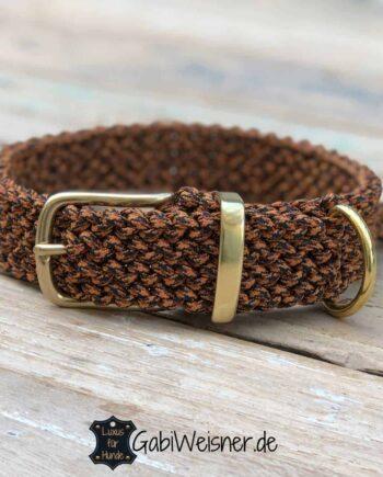 Hundehalsband Leopard Paracord 3 cm breit stufenlos verstellbar