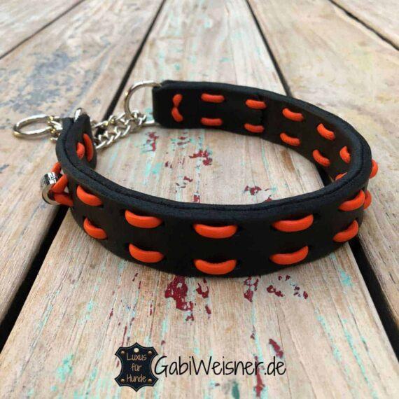 Hundehalsband Zugstopp 3 cm breit. Farbe nach Wunsch