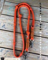 Hundeleine-Leder-Orange-Luxus-für-den-Hundehalter